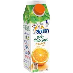 Jus d'orange 100% pur jus sans pulpe