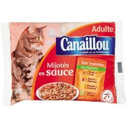 Assortiment de mijotés en sauce pour chat adulte