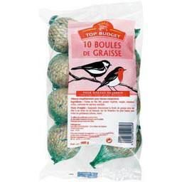 Sac 10 boules de graisse pour oiseaux de jardin