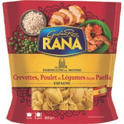 Tortellini crevettes, poulet légumes façon Paella