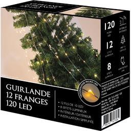Guirlande 12 franges 120 LED