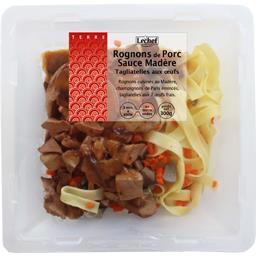 Rognons de porc sauce Madère tagliatelles aux œufs