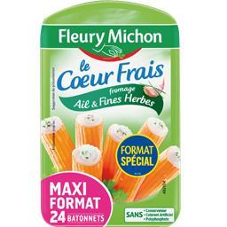 Fleury Michon Le Cœur Frais - Surimi fromage ail & fines herbes la barquette de 384 g - Maxi format