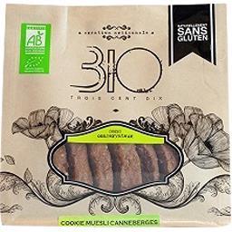 310 Bio Cookie muesli canneberge sans gluten bio Le sachet de 150gr