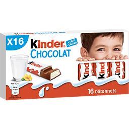 Bâtonnets au chocolat au lait fourrage lait
