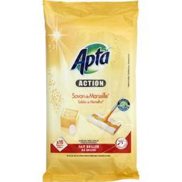 Action - Lingettes nettoyantes pour sols savon de Ma...