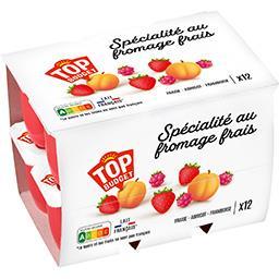 Fromages frais sucrés aromatisés aux fruits