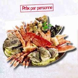 Plateau de crustacés L'ALBATROS déclinaison Homard, prix par personne