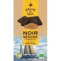 Grain de Sail Chocolat noir sésame torréfié BIO la tablette de 100 g