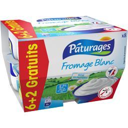 Pâturages Fromage blanc les 6 pots de 100 g