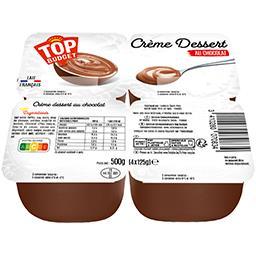 Crème dessert saveur chocolat