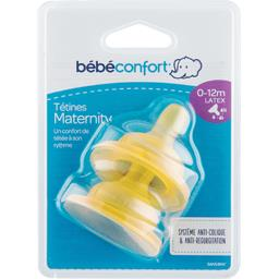 Tétines Maternity latex taille variable, 0-12 mois