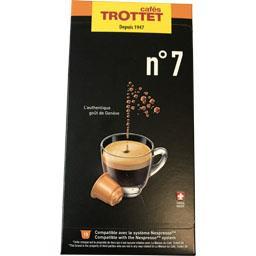 Cafés trottet Capsules de café n°7 La boîte de 10 capsules