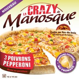 Pizza La Crazy 3 poivrons pepperoni