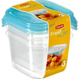 Boites hermétiques carrées Fresh'n Go 0,45 l