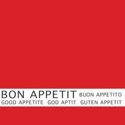 Bon Appétit Papstar Serviettes 3 plis 33x33 cm rouge