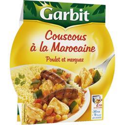 Couscous à la marocaine poulet merguez