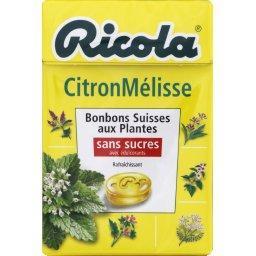 Bonbons suisses aux plantes CitronMélisse sans sucres