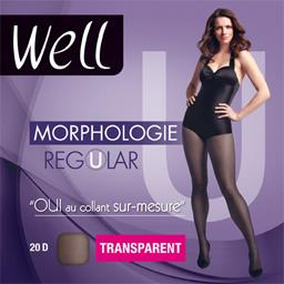 Morphologie - Collant Regular transparent T1 M 65 noir