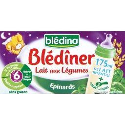 Blédîner - Céréales lactées aux légumes, épinards, d...