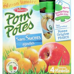Pom'Potes - Compote pomme mirabelle sans sucres ajou...