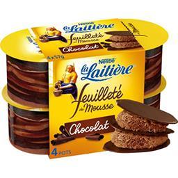 Feuilleté de mousse chocolat