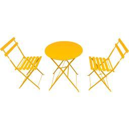 Set bistrot : 1 table et 2 chaises coloris miel