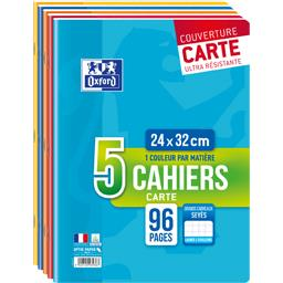 Oxford Cahier agrafe 24x32 96 pages, grands carreaux