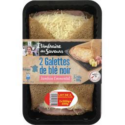 Itinéraire des Saveurs Galettes de blé noir jambon emmental le lot de 2 x 2 galettes - 600 gr