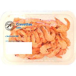 Crevettes entières cuites et réfrigérées, 80/100