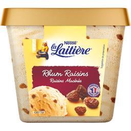 Crème glacée rhum raisins macérés