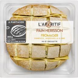 Notre Sélection Pain Hérisson fromager emmental & mozzarella ail cib... la barquette de 300 g