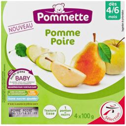Purée de fruits pomme poire, texture lisse 4/6 mois