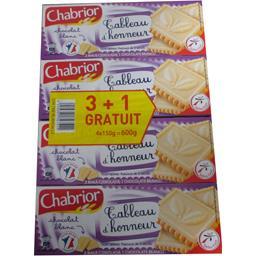 Chabrior Biscuits Tableau d'Honneur chocolat blanc les 3 paquets de 150 g