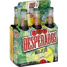 Desperados Bière aromatisée Tequila Mojito les 6 bouteilles de 33 cl