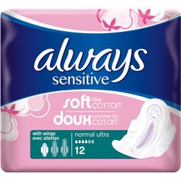 Serviette hygiénique Sensitive normal ultra avec ail...