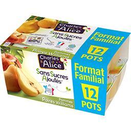 Charles & Alice Spécialité de poires pommes sans sucres ajoutés