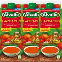 Gazpacho soupe froide Méditerranéenne de légumes fra...