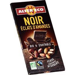 Chocolat noir éclats d'amandes BIO & équitable