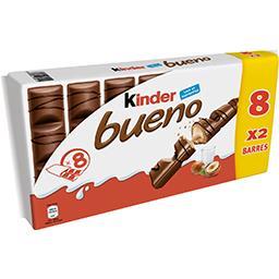 Kinder Kinder Bueno - Barres chocolatées fourrées lait et noisette...