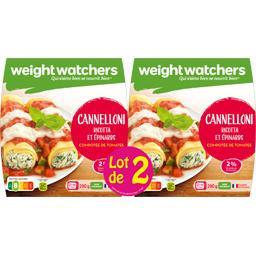 Weight Watchers Cannelloni ricotta & épinards les 2 barquettes de 290 g