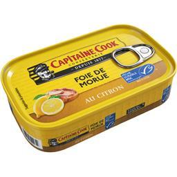 Capitaine Cook Foie de morue au citron la boite de 121 g