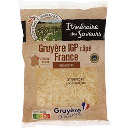 Gruyère râpé IGP France