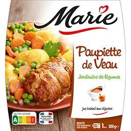 Marie Paupiette de veau jardinière de légumes