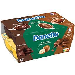 Danette - Crème dessert chocolat noisette/chocolat/c...