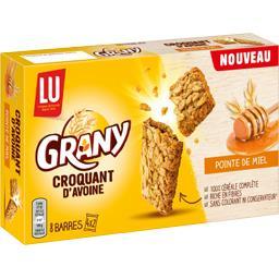 LU LU Grany - Barre Croquant d'Avoine pointe de miel les 4 sachets de 2 barres - 168 g