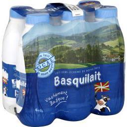 Basquilait, lait 1/2 écrémé stérilisé UHT