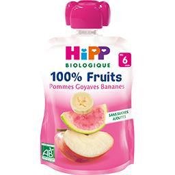 100% Fruits - Pommes goyaves banane BIO, dès 6 mois