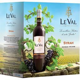 Le Val Vin de pays d'Oc syrah, vin rouge la fontaine de 2,25 l