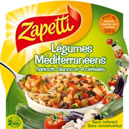 Légumes méditerranéens haricots blancs et 4 céréales